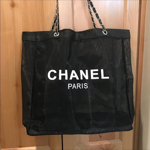 2038e0ff58e Chanel Paris CC VIP Mesh Tote Silver Chain Strap